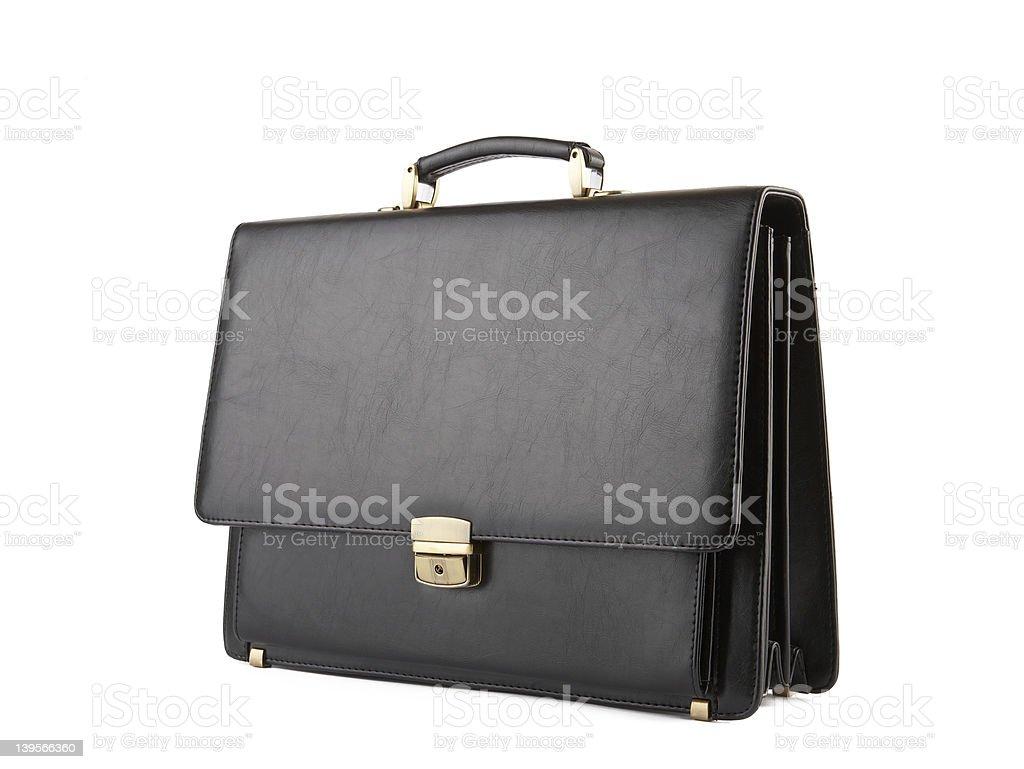 Business Briefcase on white. XXL stock photo