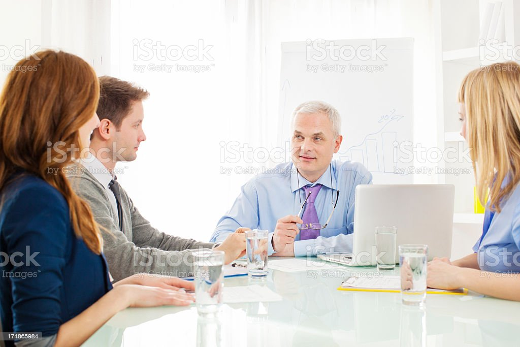 Business briefing. royalty-free stock photo