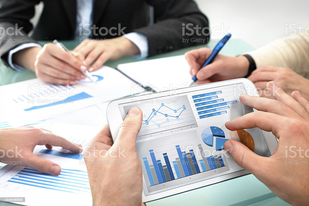 Business briefing stock photo