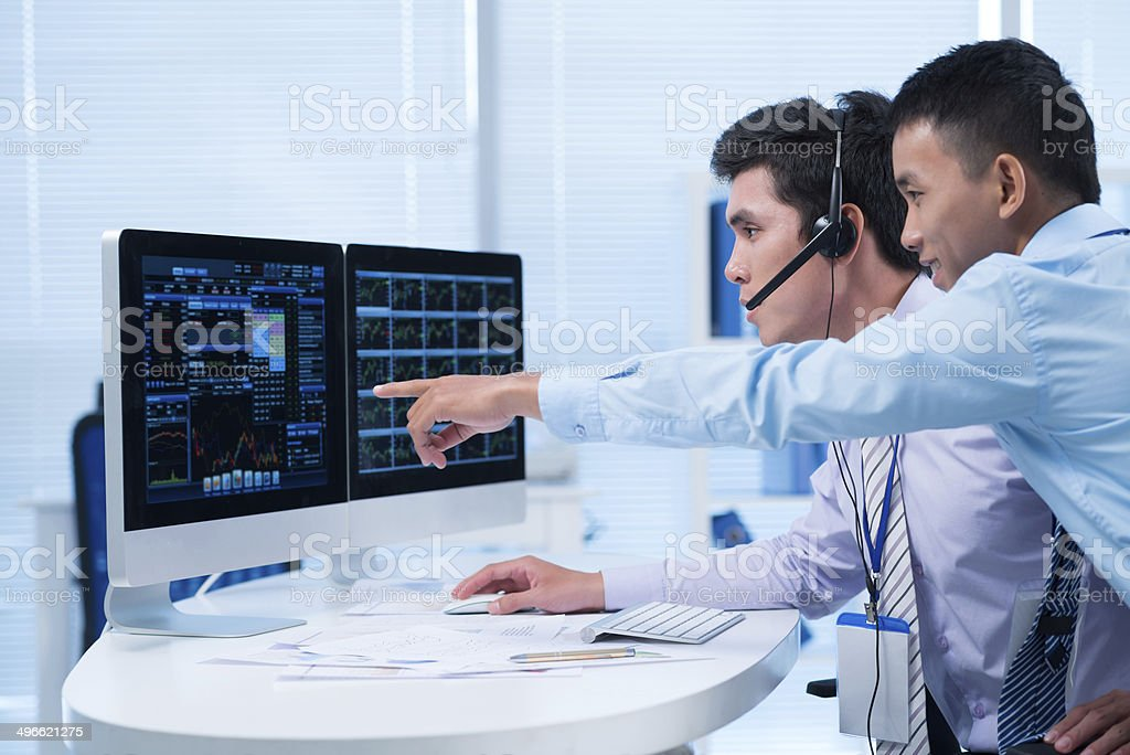 Business brokers stock photo