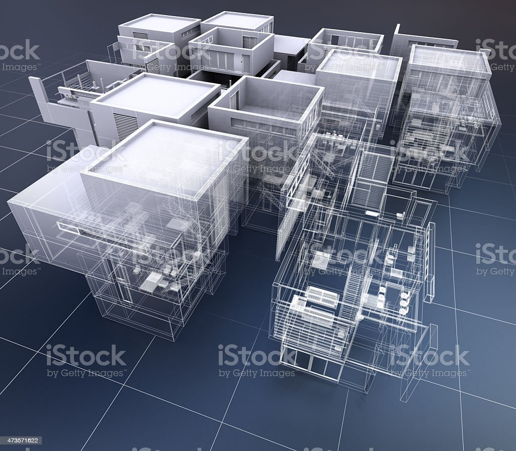 Business building architecture stock photo