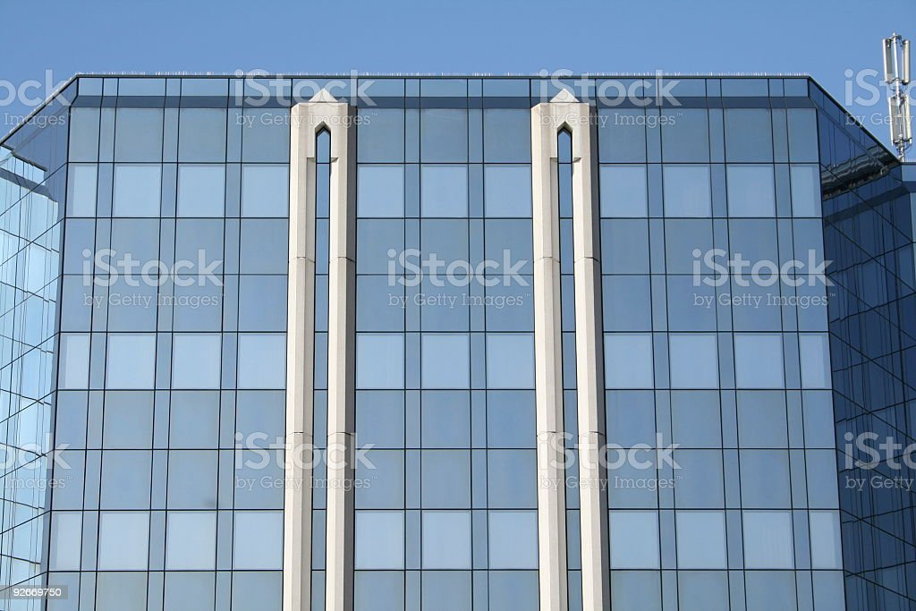 Business building frontage stock photo
