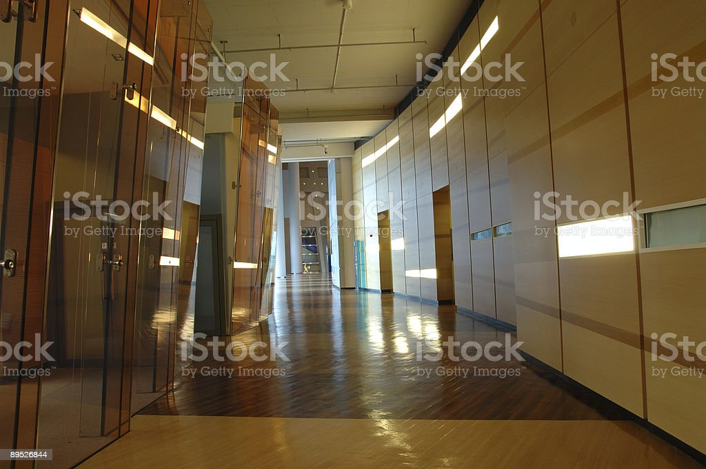 Business building hallway royalty-free stock photo