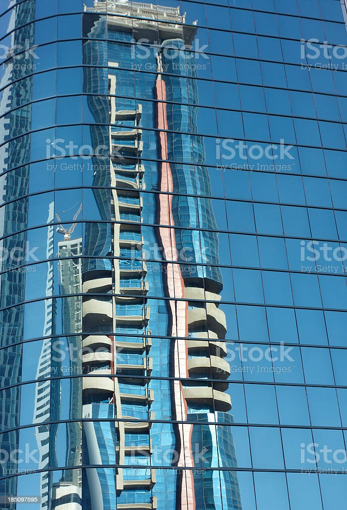 Business building reflecting royalty-free stock photo