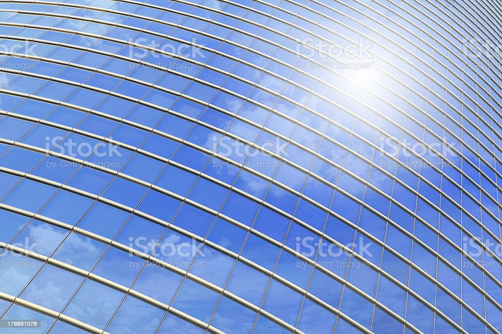 Business Building reflection Blue sky and Cloud royalty-free stock photo