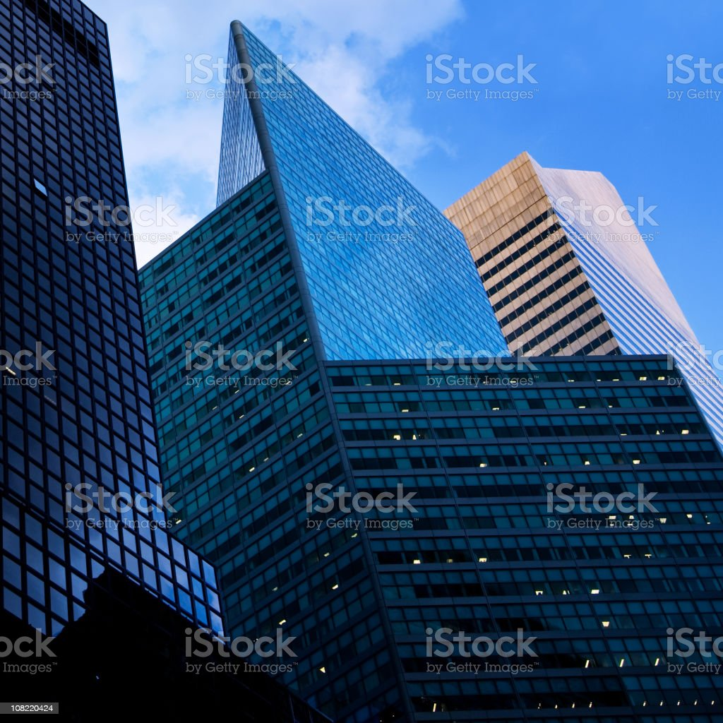 Business Buildings in New York City royalty-free stock photo