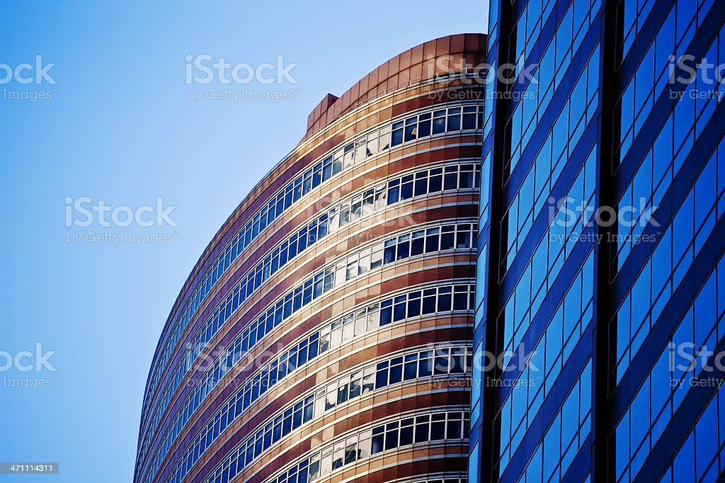 Business Buildings in New York royalty-free stock photo