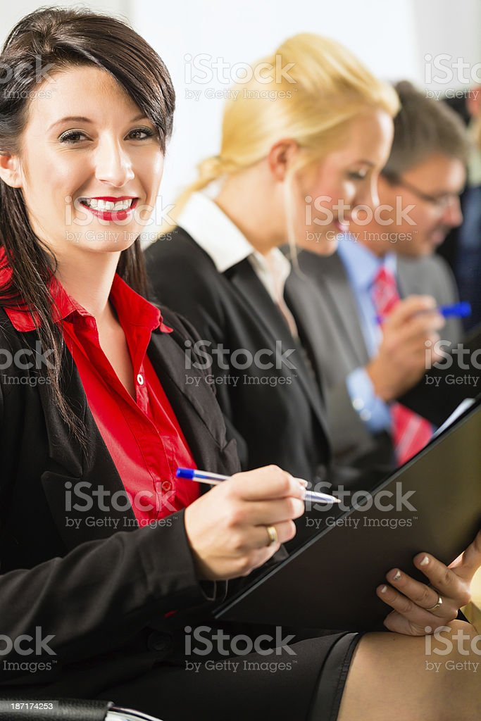 Business - businesspeople have team meeting royalty-free stock photo