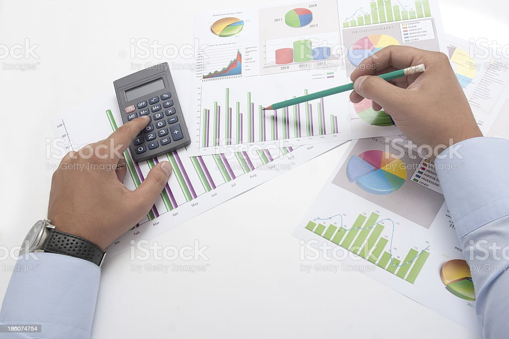 Business Calculation royalty-free stock photo