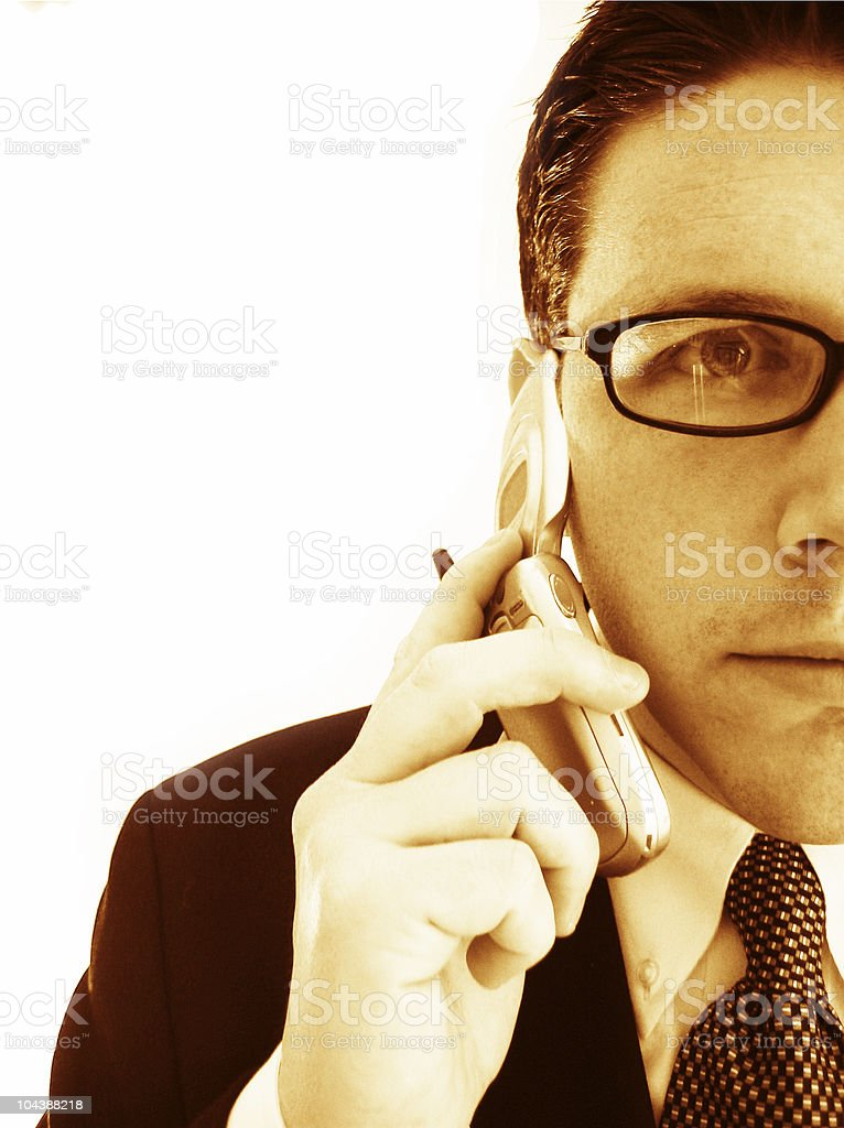 Business call 2 -sepia tone royalty-free stock photo