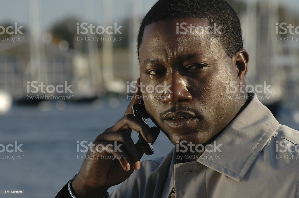 Business Call on the Shore royalty-free stock photo