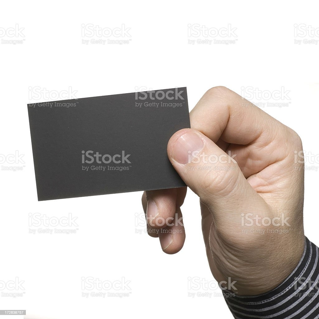 Business card close up royalty-free stock photo