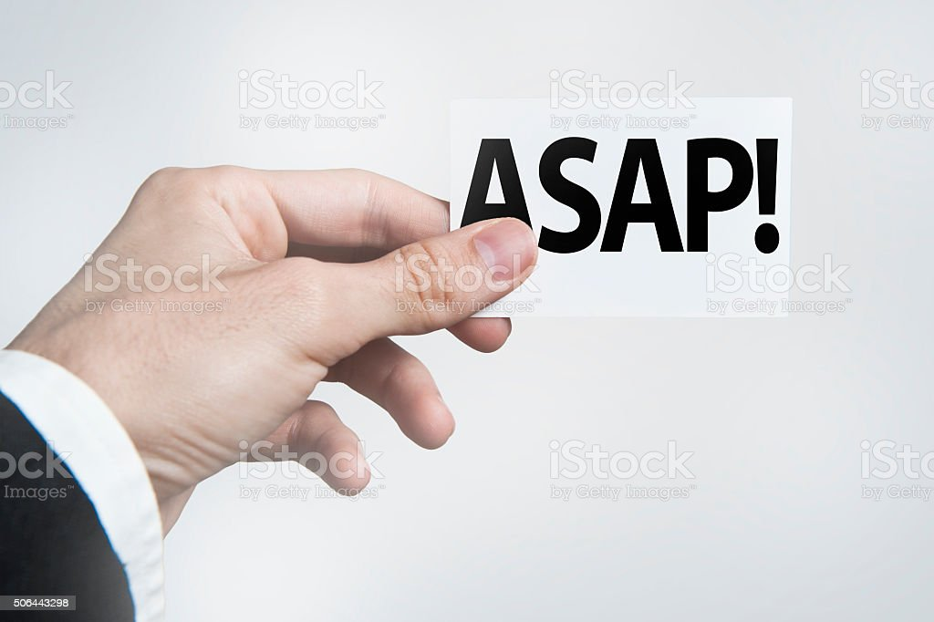 ASAP - Business card concept (Click for more) stock photo