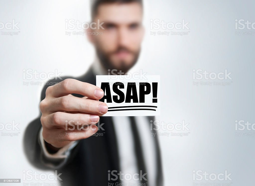 ASAP / Business card concept (Click for more) stock photo