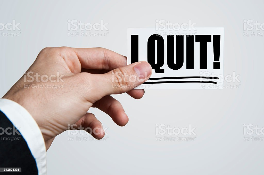 I QUIT / Business card concept (Click for more) stock photo
