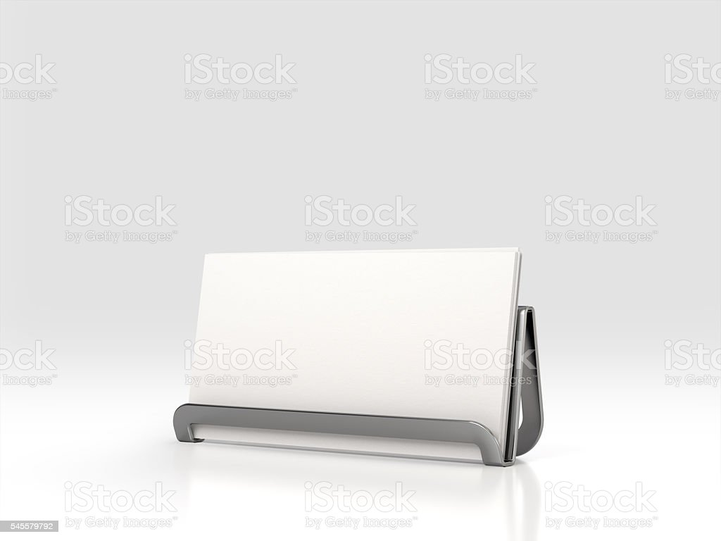 Business Card Holder. 3d rendering. stock photo