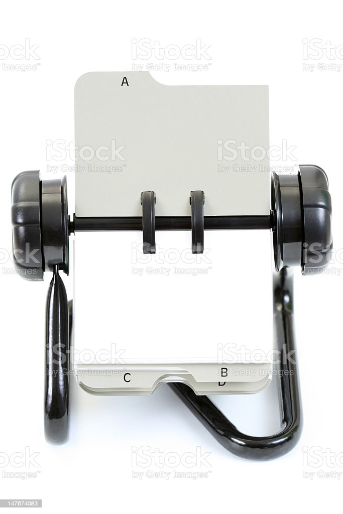 Business card holder and Rolodex royalty-free stock photo
