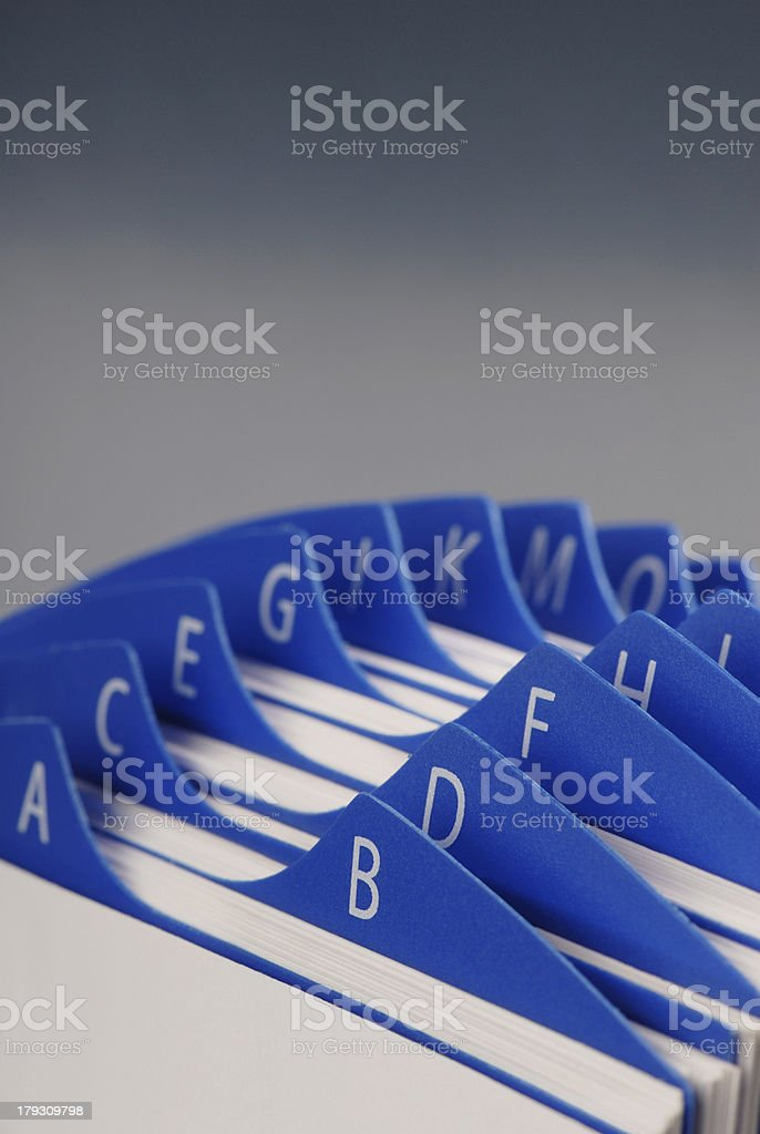 Business Card Holder stock photo