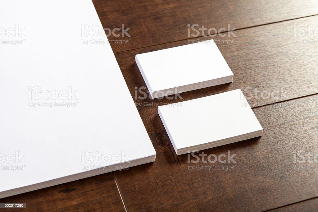 Business card & Letterhead stock photo