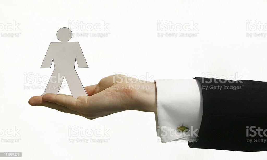 Business - Card Man royalty-free stock photo