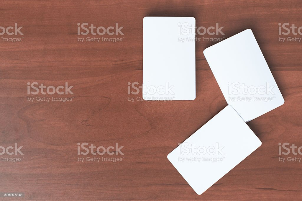 Business card mock up. stock photo