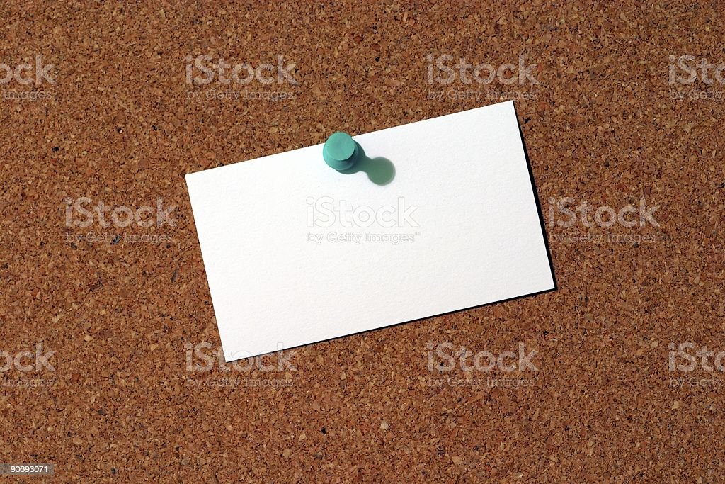 Business Card on Corkboard royalty-free stock photo