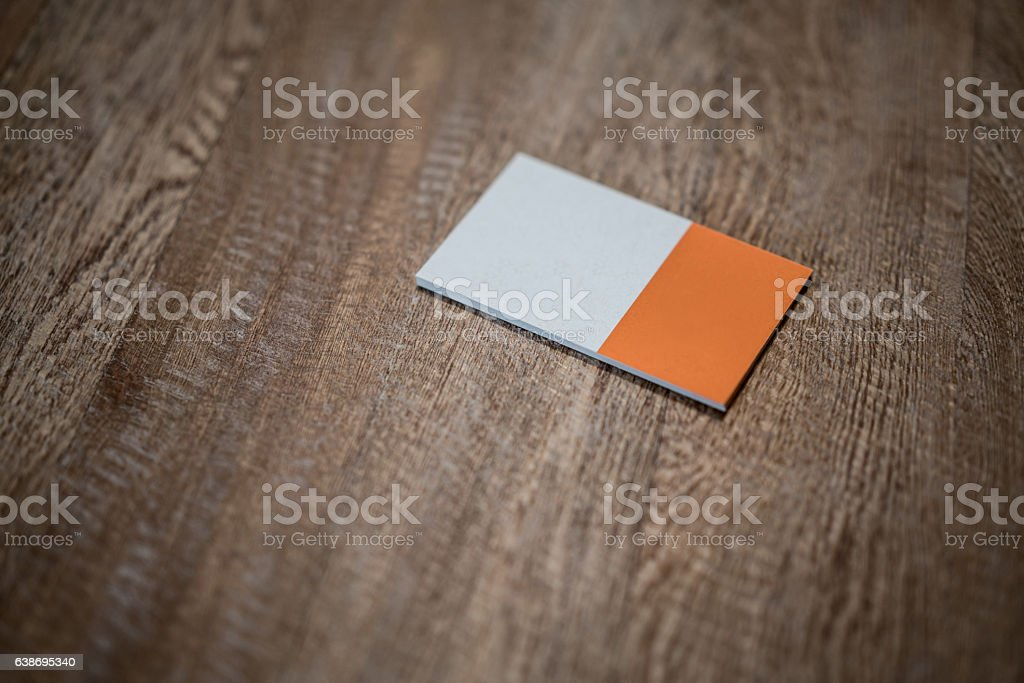 Business card on the table stock photo