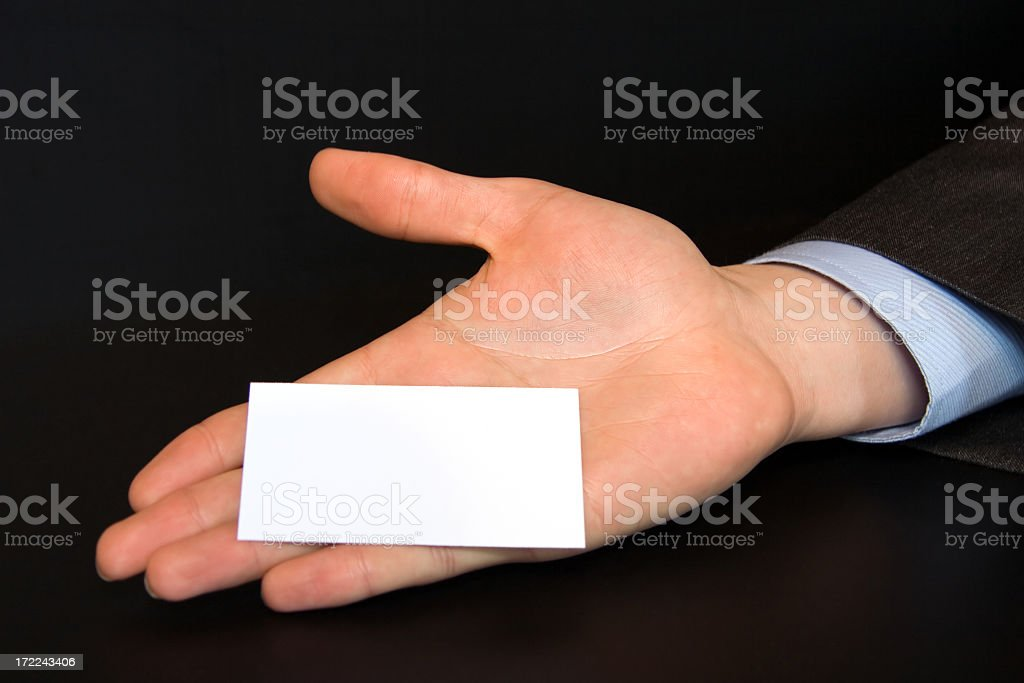 Business Card stock photo
