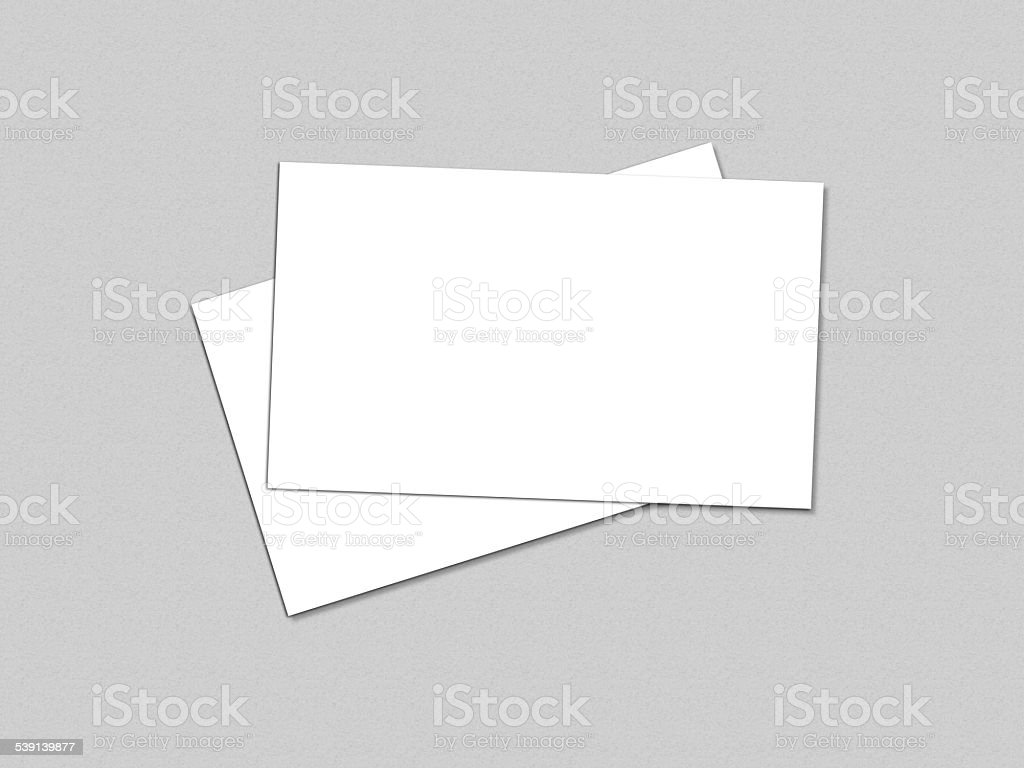 Business card presentation for promotion of Corporate identity. stock photo