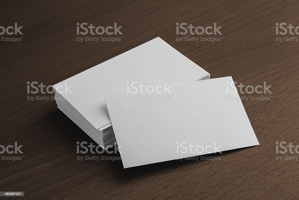 Business card presentation stock photo