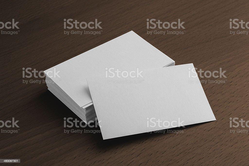 Business card presentation stock photo