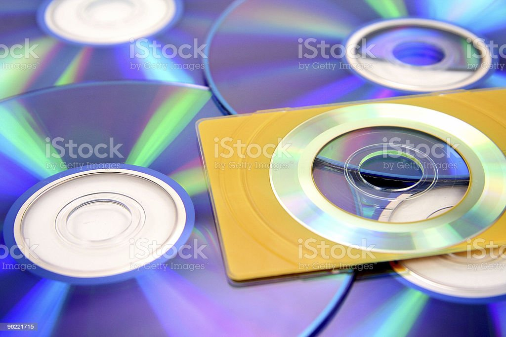 business card size cd royalty-free stock photo