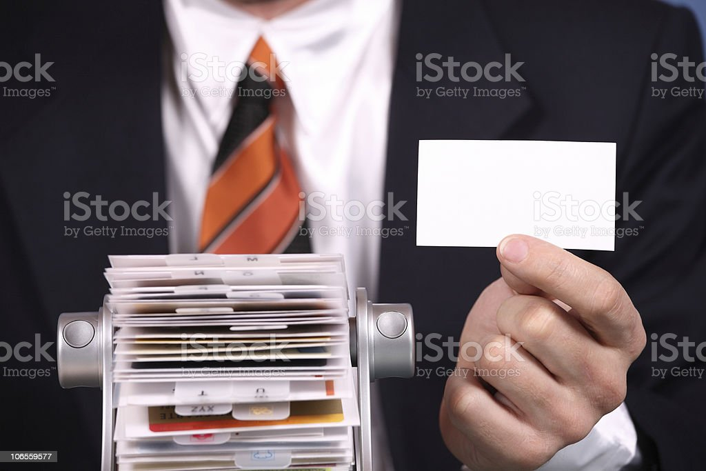 Business Card with Adress Register stock photo