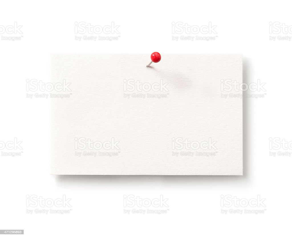 Business Card with Pin royalty-free stock photo
