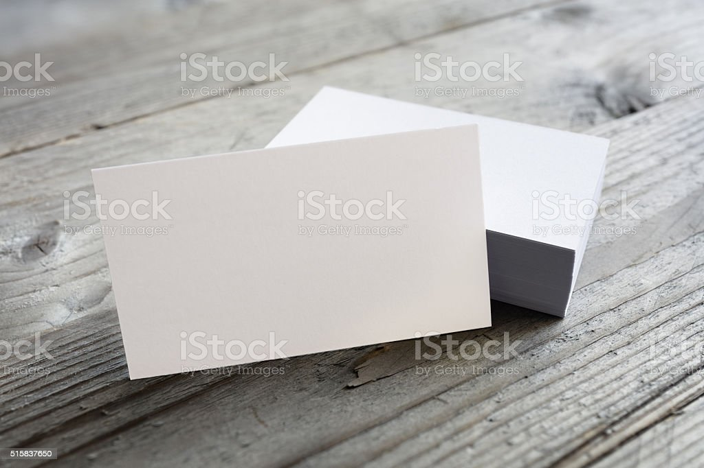 Business cards blank mockup stock photo