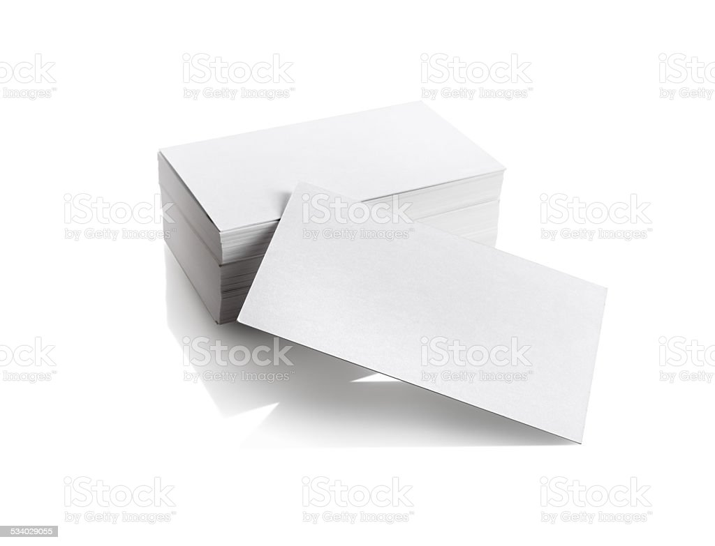 Business cards on white stock photo