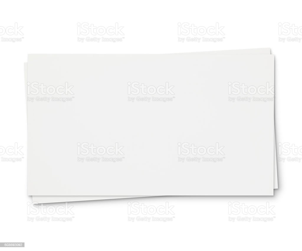 Business Cards (with path) stock photo