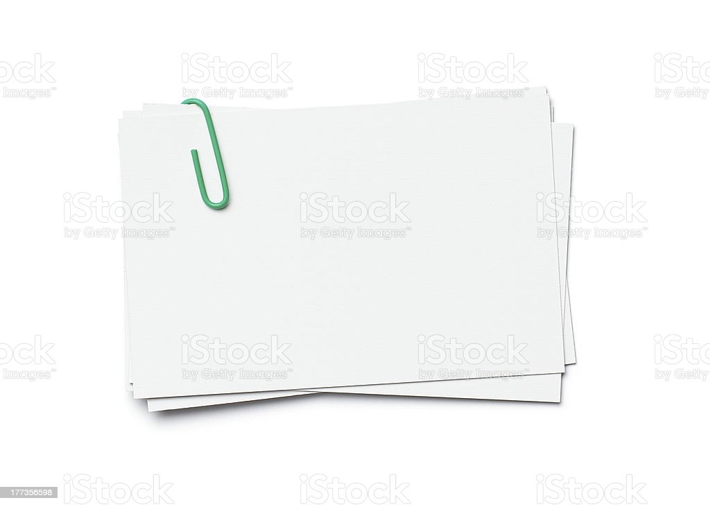 Business cards with copy space stock photo