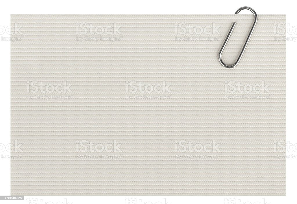 business cards with paper clip isolated on white background royalty-free stock photo
