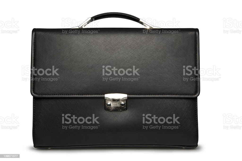 Business case on white.  Front view stock photo