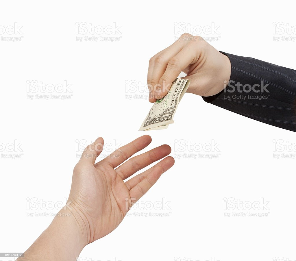 Business Cash Transaction royalty-free stock photo