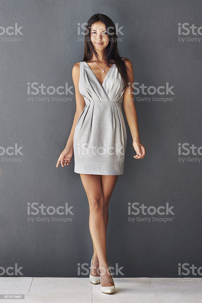 Business casual with a hint of sexy stock photo