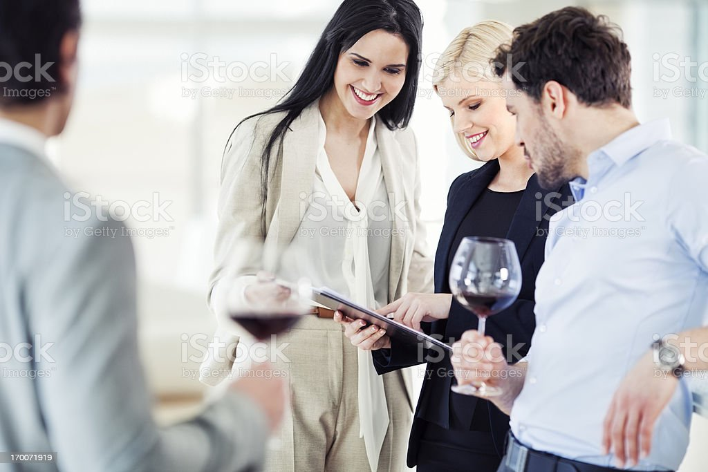 Business Celebration in the office royalty-free stock photo