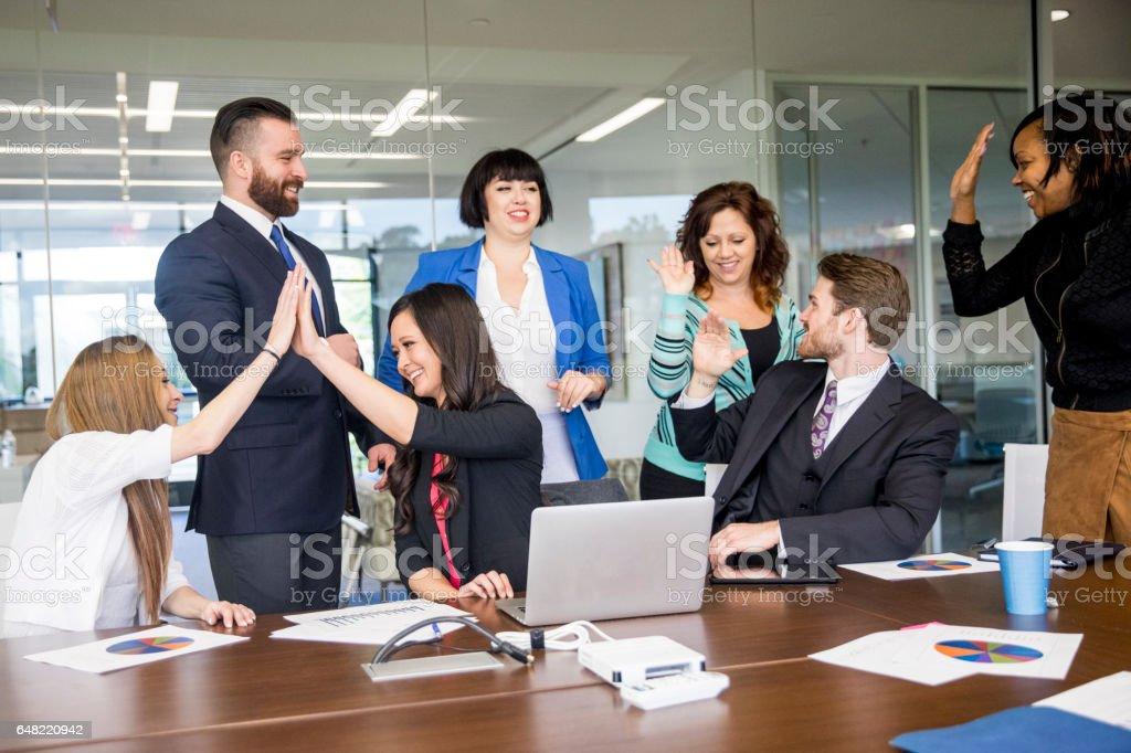 Business Celebration stock photo