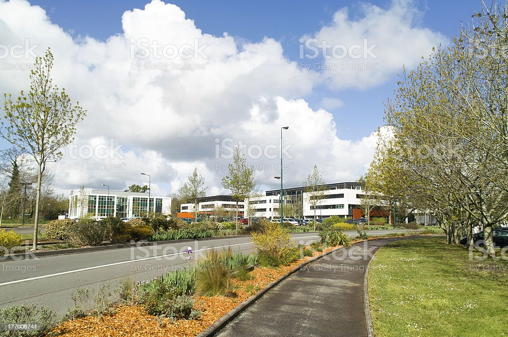 business center outdoor stock photo