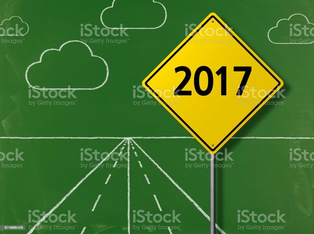 2017 - Business Chalkboard Background stock photo