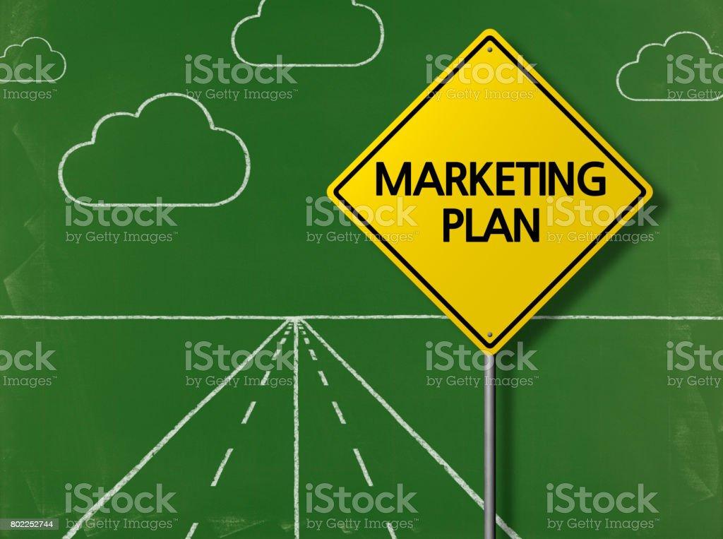 MARKETING PLAN - Business Chalkboard Background stock photo