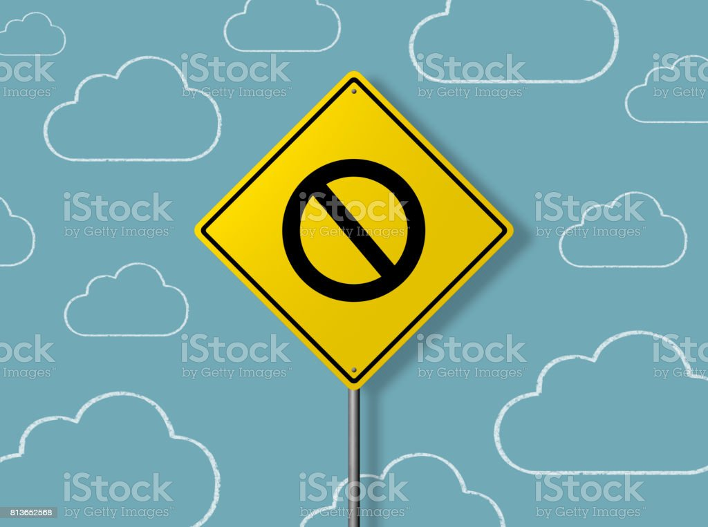NO PASSING ZONE - Business Chalkboard Background stock photo