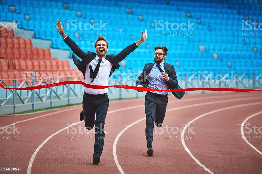 Business champion stock photo