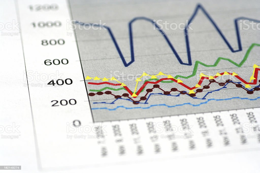 Business chart 2 royalty-free stock photo